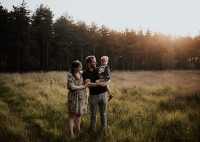 Adventurous family photo session at golden hour
